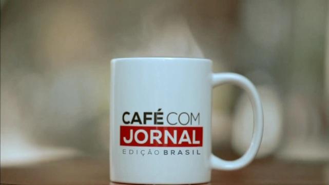 """Logo do """"Café com Jornal - Edição Brasil"""". Foto: Reprodução"""