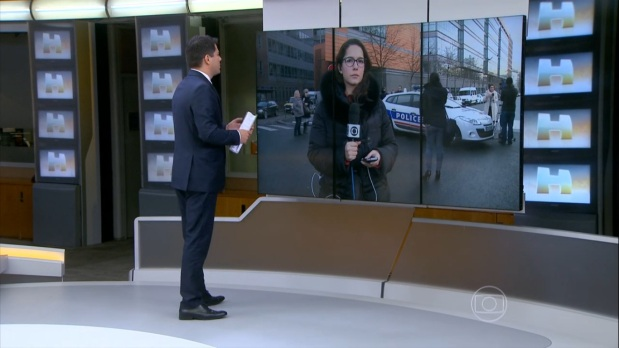 """Evaristo Costa e Cecília Malan no """"Jornal Hoje"""" da última sexta-feira (09), que teve duas partes. Foto:  Reprodução/TV Globo"""